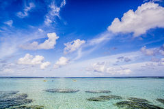 Three kayaks in Maldives Royalty Free Stock Image