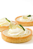Three Key Lime tarts Royalty Free Stock Photos