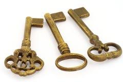 Three keys Royalty Free Stock Photos