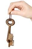 Three keys in the hand Stock Photo