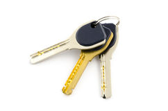 Three keys isolated on white Stock Image