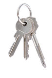 Three keys on keyring Royalty Free Stock Photography