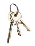 Three keys on ring Royalty Free Stock Images
