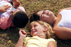 Three kids Royalty Free Stock Image