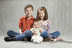 Three kids Royalty Free Stock Images