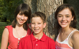 Three Kids Stock Images