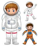 Three kids in astronaut costume. Illustration Royalty Free Stock Photography