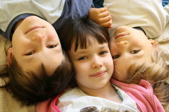 Three Kids Having Fun Stock Images