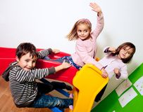 Three kids playing Royalty Free Stock Photo