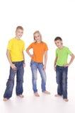 three kids posing Stock Photos