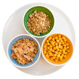 Three kind of cereals Royalty Free Stock Photo