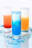 Three kind of cool drinks Royalty Free Stock Images