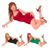 Three kind of ladies. Royalty Free Stock Photography