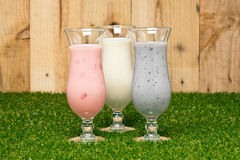 Three kind of a milk shake Royalty Free Stock Images