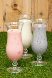Three kind of a milk shake Royalty Free Stock Image