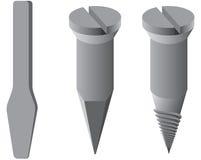 Three kind of pins Royalty Free Stock Image