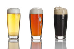 Three kinds of beer Royalty Free Stock Images