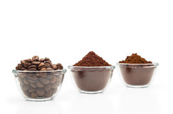 Three Kinds of Coffee Royalty Free Stock Image