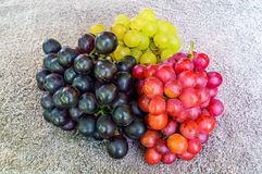 Three kinds of grapes Stock Image