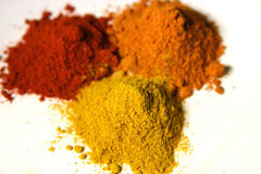 Free Three Kinds Of Spice Powders Royalty Free Stock Photography - 405117
