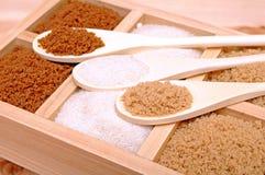Three kinds of sugar Royalty Free Stock Image