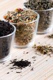 Three kinds of tea stock photos