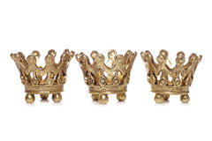 Three king crowns christmas decoration Royalty Free Stock Photos
