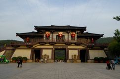 Three kingdom gate tower Stock Photography