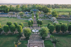 Three Kingdoms Garden at Pattaya : View from Above. Stock Photography