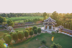 Three Kingdoms Garden at Pattaya : View from Above. Royalty Free Stock Images