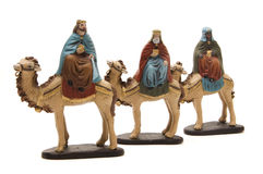 Three Kings. Figures of the Three Kings to represent the nativity scene royalty free stock images