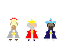 Three kings. Bearing gifts on a white background Royalty Free Stock Photos