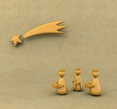 Three kings. Stylized representation of the three kings following the star Royalty Free Stock Images