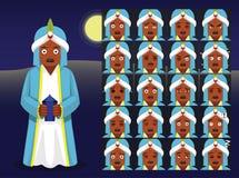 Three Kings Baltasar Cartoon Emoticons Vector Illustration Stock Photo
