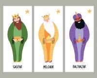 Three kings cards royalty free illustration