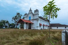 Three Kings Chapel. At Goa believed to be most haunted place and a tourist place where one can feel what is fear Royalty Free Stock Photo