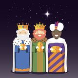 The Three Kings with christmas star. Epiphany day. The Three Kings with christmas star. Vector Illustration Stock Images