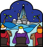 Three kings following star Royalty Free Stock Photo