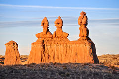 Three Kings Goblin State Park. Figures sandstone, three kings, the Goblin Valley State Park in the State of Utha Stock Images