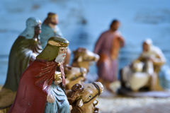 The three kings and the holy family Royalty Free Stock Images