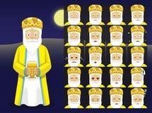 Three Kings Melchor Cartoon Emoticons Vector Illustration Royalty Free Stock Image