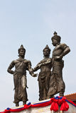 Three Kings Monument. In Chiang Mai Royalty Free Stock Photos