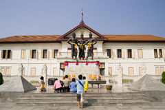 Three Kings Monument in Chiang Mai Royalty Free Stock Photo