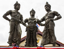 Three Kings Monument, Chiang Mai Stock Images