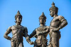 The Three Kings Monument in Chiang Mai Stock Image