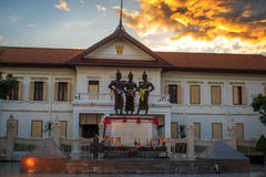 The Three Kings Monument,Chiang Mai. Thailand Stock Images