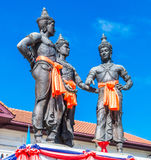 The Three Kings Monument, Thailand Royalty Free Stock Images