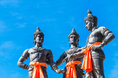 The Three Kings Monument, Thailand Stock Photo