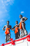 The Three Kings Monument, Thailand Royalty Free Stock Image