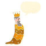 on of the three kings retro cartoon Royalty Free Stock Photos
